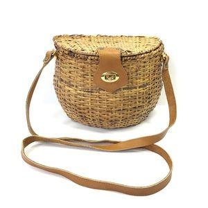 Beach boho Basket rattan woven purse